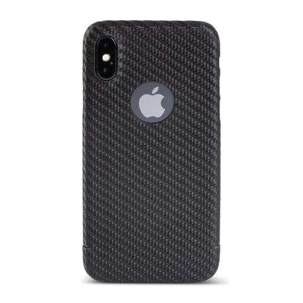 Carbon Cover iPhone X z Logo Window