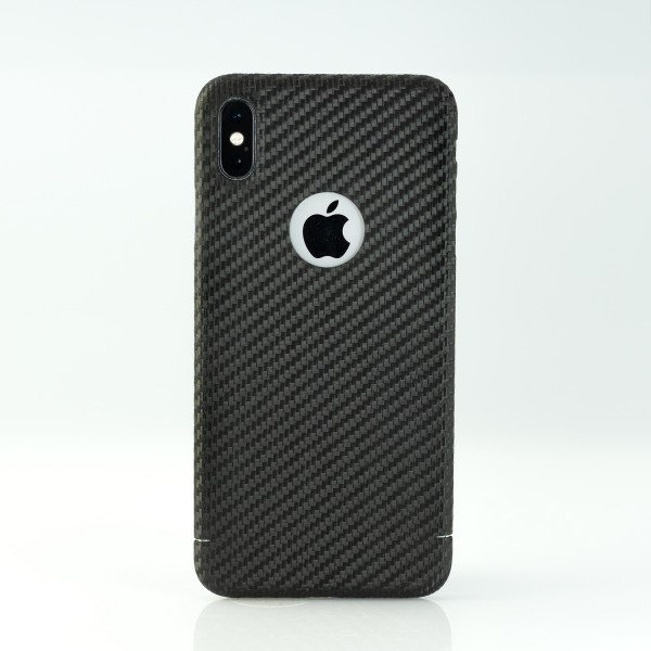Carbon Cover iPhone Xs Max z Logo-Window