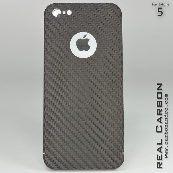 Carbon Cover iPhone 5 z Logo Window