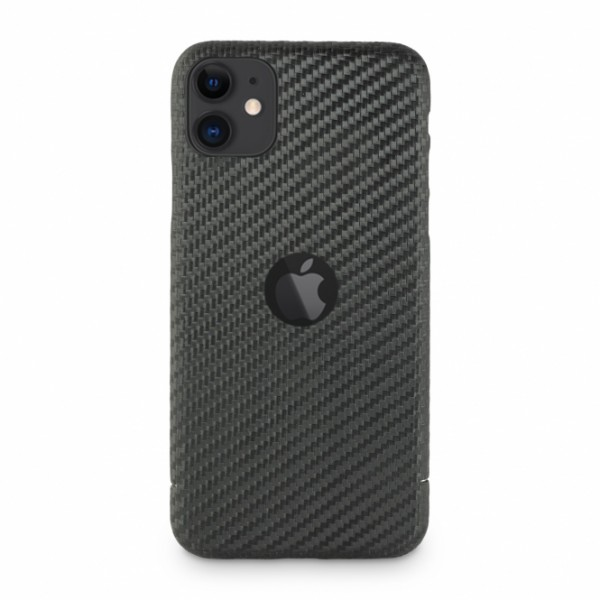 Carbon Cover iPhone 11 z Logo Window