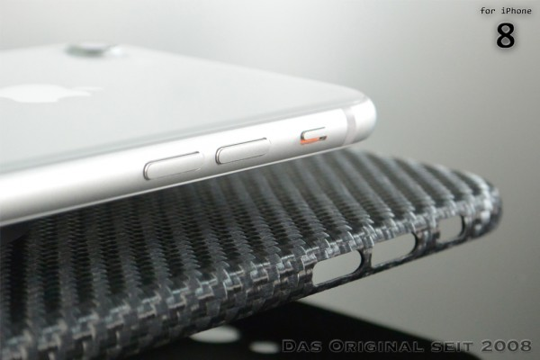 Magnetic Carbon Cover iPhone 8