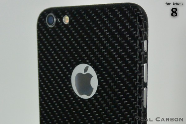 Carbon Cover iPhone 8 z Logo Window